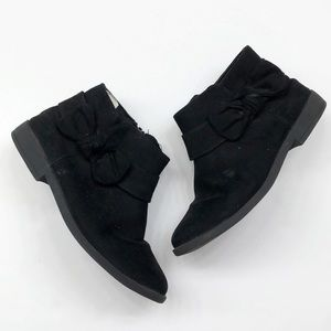Gymboree black bow ankle booties for girls
